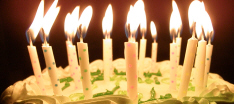 Candles for CLUAS.com's 10th birthday