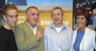 Louis Walsh and some, er, pillars of the Irish Music scene