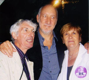 Irish Jack Lyons with his wife Maura and Pete Townshend