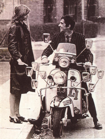 Lesley Ash, Phil Cooper and the Lambretta LI