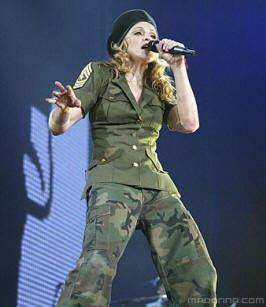Madonna in military gear