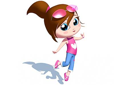 The most popular but most peculiar of these children's cartoon pop stars, a
