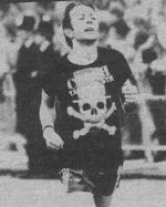 I fought the wall: Strummer in the London marathon in 1981...