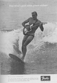 Surfing Fender Guitar